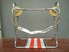 线路检修飞车 大轮坐滑椅 尼龙轮座滑椅 胶轮座椅 架空通信滑椅 双轮滑板车 钢筋轮通讯吊椅