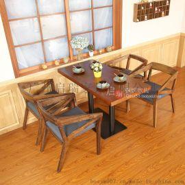 定制西餐厅沙发卡座咖啡厅沙发桌椅奶茶店甜品店卡座沙发桌椅组合