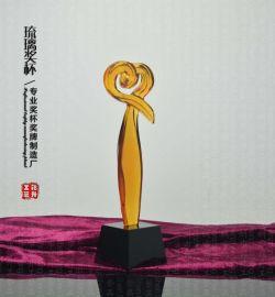 爱心琉璃奖杯 慈善单位表彰奖杯 水晶玻璃奖杯