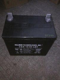 C&D品牌UPS蓄电池12V54AH