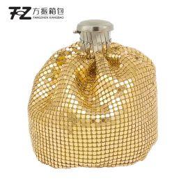 厂家直销铝片包珠片包定制晚宴包化妆包可手拿单肩斜挎定制LOGO