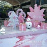 玻璃鋼卡通玩偶雕塑耶誕節主題雕塑卡通雕塑定製