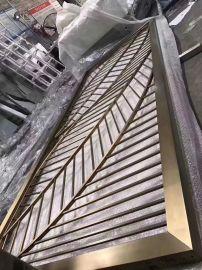 玫瑰黄钛香槟黑金古铜不锈钢屏风定制佛山利创金属屏风厂家