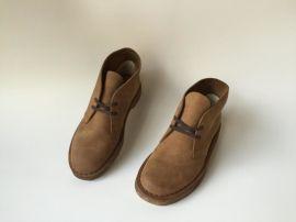 GEMPOW 逐派2015春夏季新款真皮休闲商务男士皮鞋杏色沙漠靴