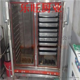 江全自动控温控时双门馒头蒸箱供应商 蒸荞麦馒头蒸车价格 不锈钢蒸饭柜性能特点
