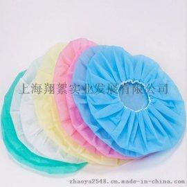 【上海翔絮廠家直銷一次性無紡布條形單筋雙筋工作帽】量大從優