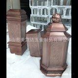古铜不锈钢装饰柱子 仿古不锈钢柱子制品厂家定做