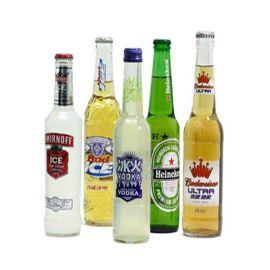 啤酒瓶身透明标签/啤酒标签/卷装啤酒正标签印刷/不干胶标签定做
