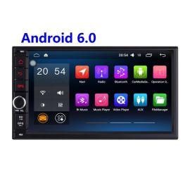 廠家直銷捷友J-2818N安卓6.0高清1024*600無碟7寸電容觸摸屏安卓6.0.1通用車載DVD收音機