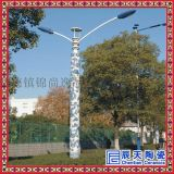景德镇青花瓷陶瓷灯柱   户外照明路灯