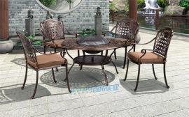 鑄鋁桌椅戶外露天燒烤  桌椅鋁藝陽臺桌椅套餐