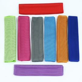 速幹吸水冷感巾男女成人戶外健身跑步瑜伽夏季降溫擦汗運動冰涼巾