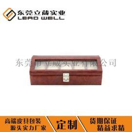 厂家直销PU皮革手表盒可定制高档珠宝手链包装盒