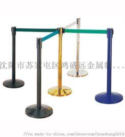 通化不锈钢一米线伸缩带围栏 银行一米线排队隔离柱