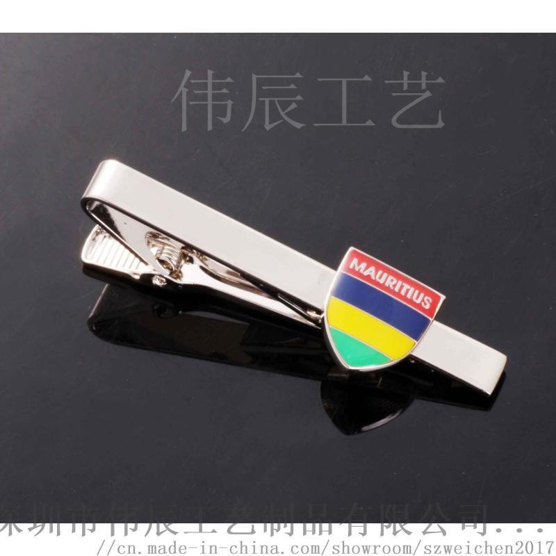 贴纸滴胶领带夹定制,西服领带夹生产,金属领带夹