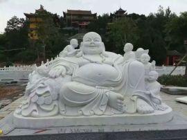 石雕佛像厂家 1米汉白玉弥勒佛多少钱