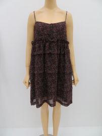 热销外贸女士性感露肩印花吊带连衣裙,雪纺双层吊带裙