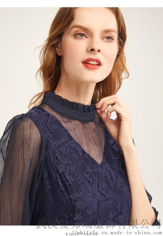 名牌服装拿货价宝莱国际苎麻拼接裙子连衣裙