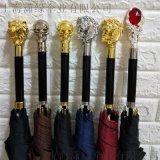 定製個性水晶傘柄頭創意潮流動物傘柄工廠定製雨傘