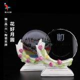 水晶陶瓷奖牌,办公室摆件,商务合作奖牌奖杯