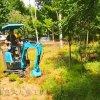 夾包裝載機 勾機工作視頻 六九重工植樹修整小型挖機