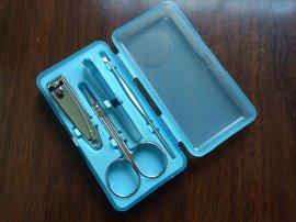 铭雄指甲套装 塑料盒4件套小礼品 指甲剪工具套