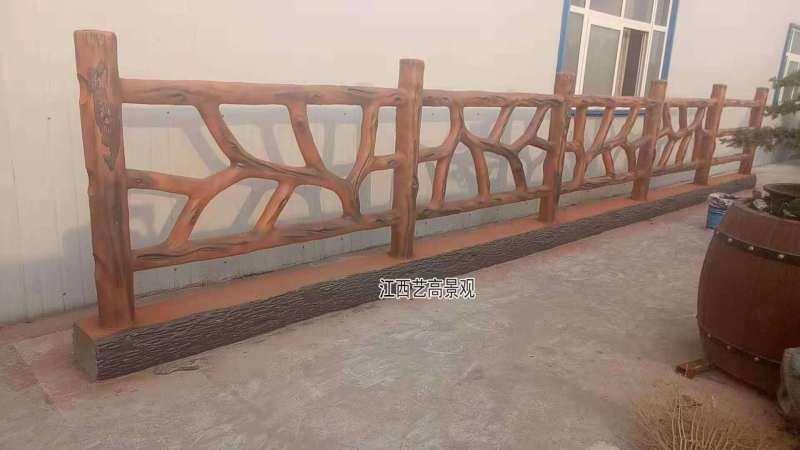 江西水泥仿木栏杆优点 **景观仿木护栏施工制作
