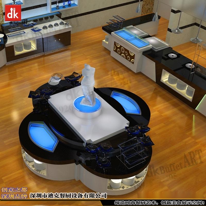 酒店自助餐台定制 自助餐设备自助餐台 艺术餐台 组合布菲台 自助餐设备