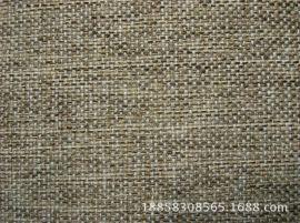 空变阳离子色织仿麻沙发布靠垫布  扎毛涂层后整理仿麻装饰面料