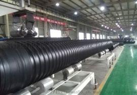 HDPE钢带管 地埋钢带增强波纹管