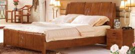 新款实木双人床,中式风格橡木材质