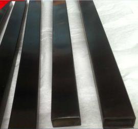 佛山真空电镀不锈钢管 拉丝黑钛不锈钢方管(38*38*1.5)
