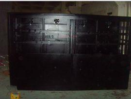 立腾机柜定做4孔电视墙(黑色)
