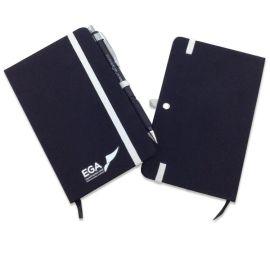 佳佳文具 ,布面精装笔记本, 带笔扣带口袋记事小本