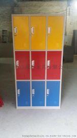 公司员工宿舍用铁皮 衣柜6门带挂衣杆6人用的员工 衣柜