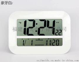 吉美H809新款家居超大显示屏超静音创意装饰数字电子挂钟温度计闹钟