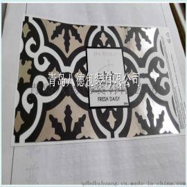 廠家直銷定做優質彩色不幹膠標籤透明燙銀不幹膠印刷