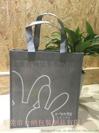 灰色无纺布印刷手提袋 全车缝包边服装服饰环保袋