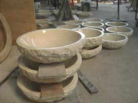 米黄大理石洗手盆