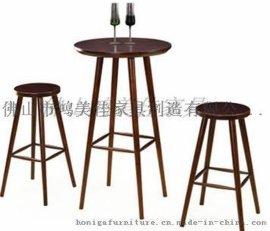 **吧实木餐椅,实木吧椅广东鸿美佳厂家加工生产
