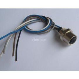 以太网M12法兰接插件,工业交换机M12连接头,航空圆形法兰接插件连接头