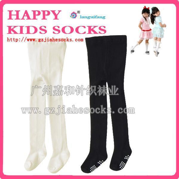 薄款天鹅绒拉丁舞芭蕾舞儿童裤袜 专业儿童舞蹈连裤袜白色肉色可选