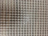 PVC透明夹网布 大眼透明网格布 文件袋面料