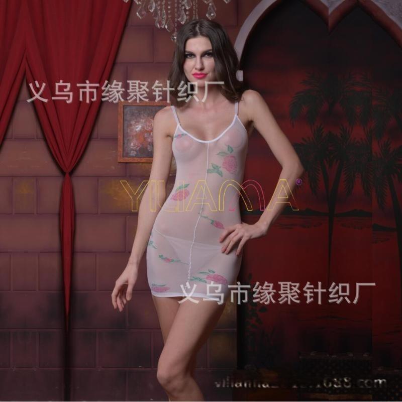 情趣絲襪批發廠家直供2017傾情爆款性感情趣玫瑰花連身短裙內衣