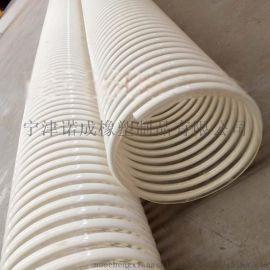 吸粮机配套PU钢丝管聚氨酯风管高耐磨木屑抽吸软管