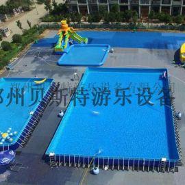 辽宁大型儿童室外移动水乐园支架水池