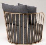 北歐蔞空沙發,高質量鐵線沙發椅,書房椅