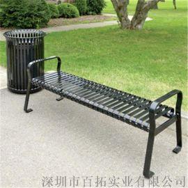 户外广场公园长凳铁艺园林小区休息座椅室外长凳