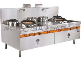 酒店厨房设备 不锈钢商用燃气单头大炒炉 深圳厨具