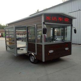 电动四轮小吃车多功能快餐车卤菜熟食车早餐车电动餐车